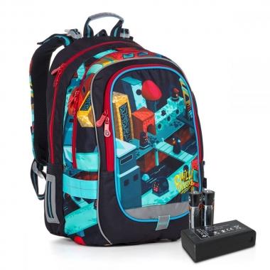 Сяючий шкільний рюкзак CODA 19044 BATTERY AA