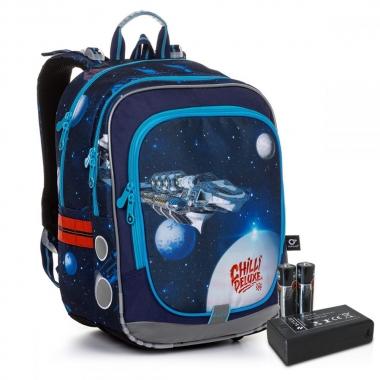 Сяючий шкільний рюкзак ENDY 20017 BATTERY AA